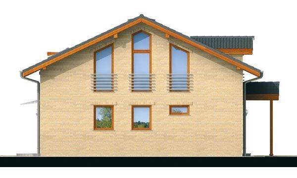 Pohľad 2. - Klasický podkrovný rodinný dom s izbou na prízemí