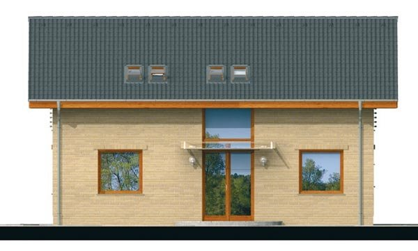Pohľad 3. - Klasický podkrovný rodinný dom s izbou na prízemí