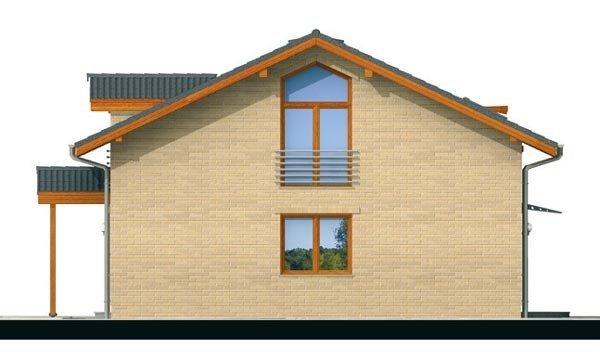 Pohľad 4. - Klasický podkrovný rodinný dom s izbou na prízemí