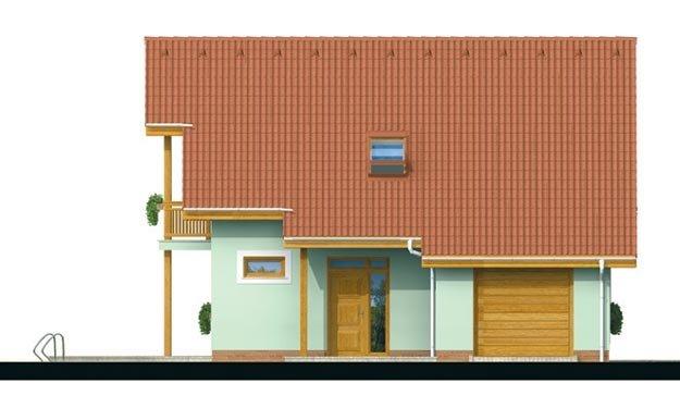 Pohľad 1. - Dom so zimnou záhradou a garážou.