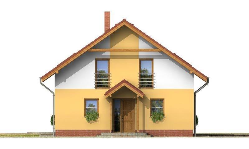 Pohľad 1. - Klasický rodinný dom s galériou a izbou na prízemí.