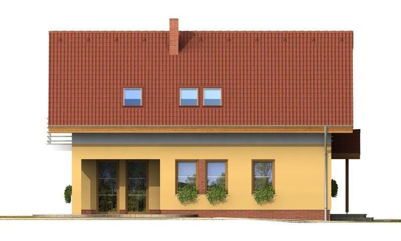 Pohľad 2. - Klasický rodinný dom s galériou a izbou na prízemí.