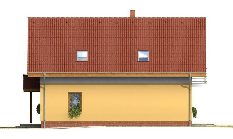 Pohľad 4. - Klasický rodinný dom s galériou a izbou na prízemí.