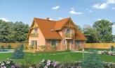 Projekt domu na úzky pozemok s bočným vstupom s 2-mi izbami na prízemí