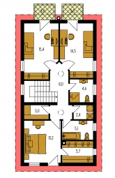 Pôdorys poschodia - MERKUR 1