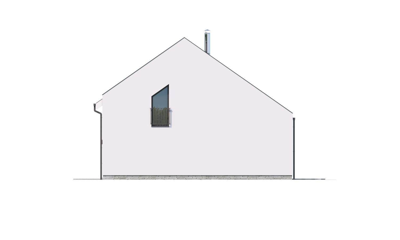 Pohľad 2. - Moderný 4 izbový rodinný dom s množstvom úložného priestoru, spálňou na prízemí a priestrannou galériou.