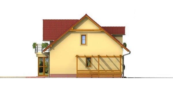 Pohľad 4. - Zaujímavý rodinný dom s apsidou a čelným vstupom.