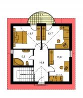Pôdorys poschodia - MILENIUM 224