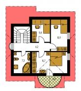 Zrkadlový obraz | Pôdorys poschodia - MILENIUM 225