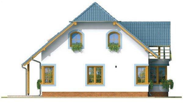Pohľad 2. - Dom na malý pozemok.
