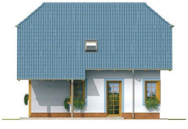 Pohľad 3. - Dom na malý pozemok.