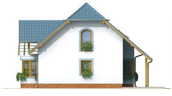 Pohľad 4. - Dom na malý pozemok.