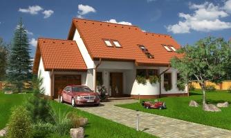Poschodový rodinný dom s garážou a izbou na prízemí