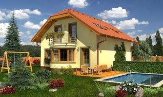 Poschodový dom s garážou a polvalbovou strechou