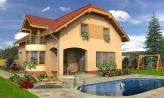 Úzky rodinný dom s garážou a terasou