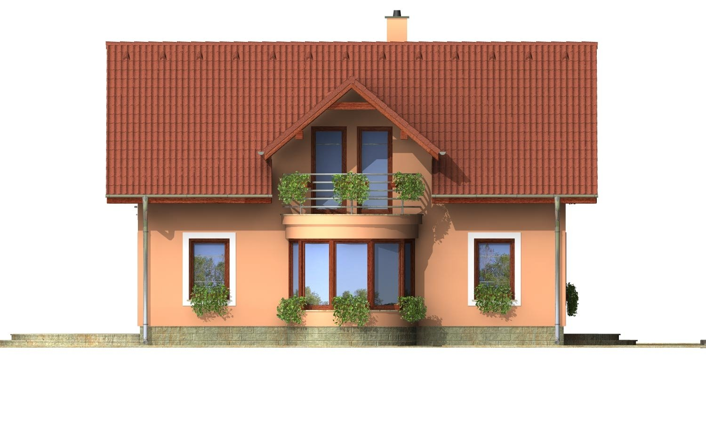 Pohľad 1. - Projekt domu na úzky pozemok s garážou