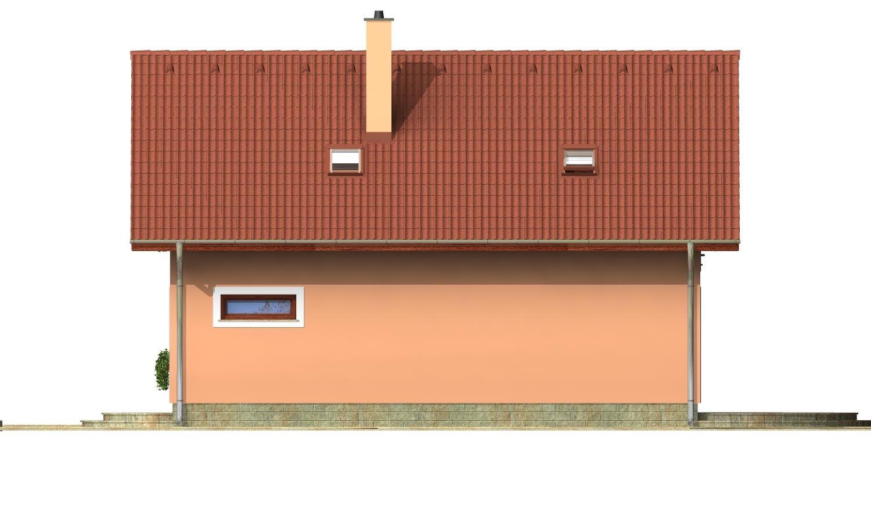 Pohľad 3. - Projekt domu na úzky pozemok s garážou