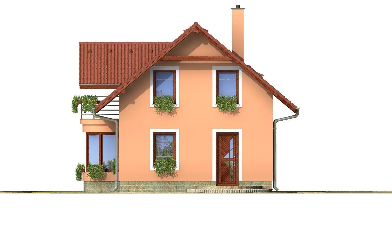 Pohľad 4. - Projekt domu na úzky pozemok s garážou