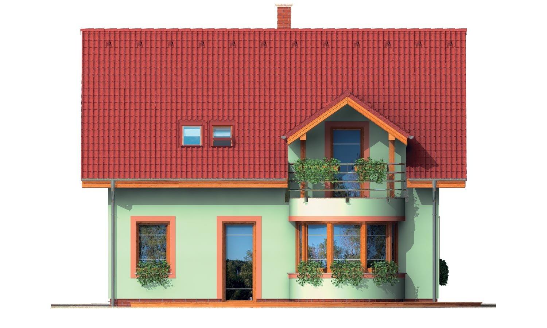 Pohľad 3. - Poschodový dom s izbou na prízemí.