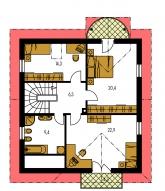 Zrkadlový obraz | Pôdorys poschodia - MILENIUM 234