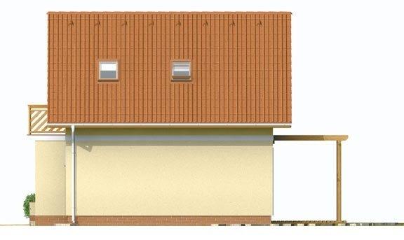 Pohľad 4. - Jednoduchý dom na malý pozemok.