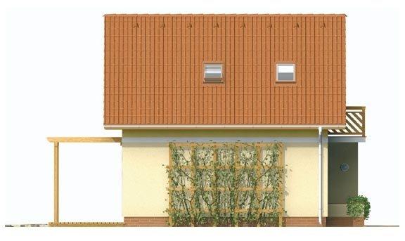 Pohľad 2. - Jednoduchý dom na malý pozemok.