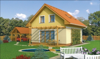 Jednoduchý dom na malý pozemok