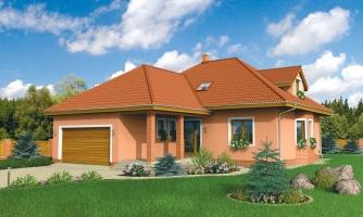 Priestranný dom s dvojgarážou
