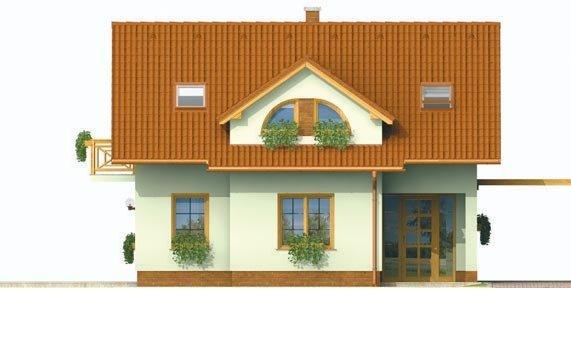 Pohľad 1. - Malý praktický dom pre 4-člennú rodinu.