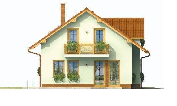 Pohľad 2. - Malý praktický dom pre 4-člennú rodinu.