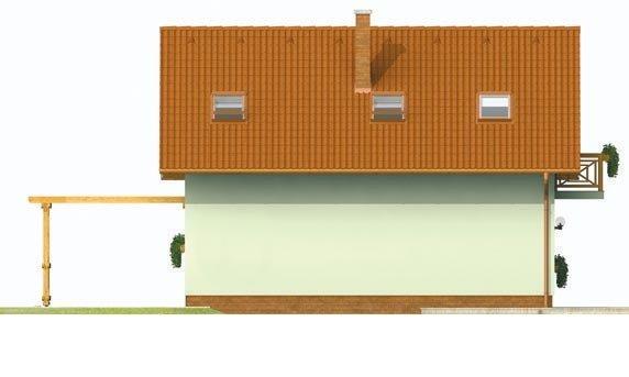 Pohľad 3. - Malý praktický dom pre 4-člennú rodinu.