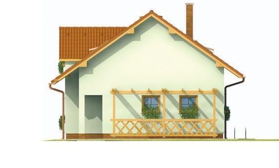 Pohľad 4. - Malý praktický dom pre 4-člennú rodinu.