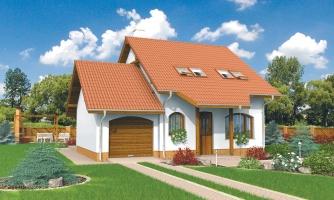 Malý praktický dom s garážou