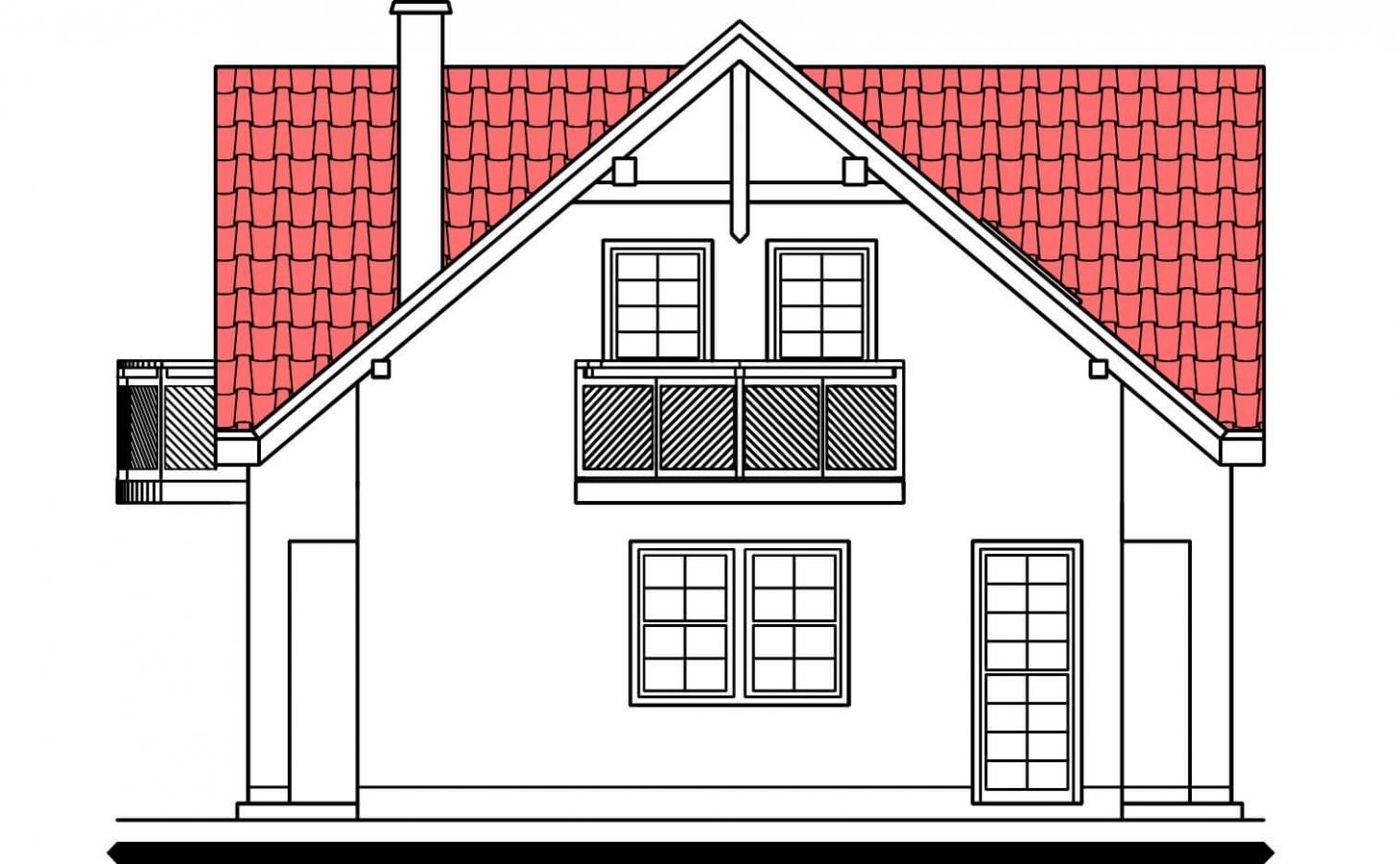Pohľad 2. - Poschodový 4-izbový dom.