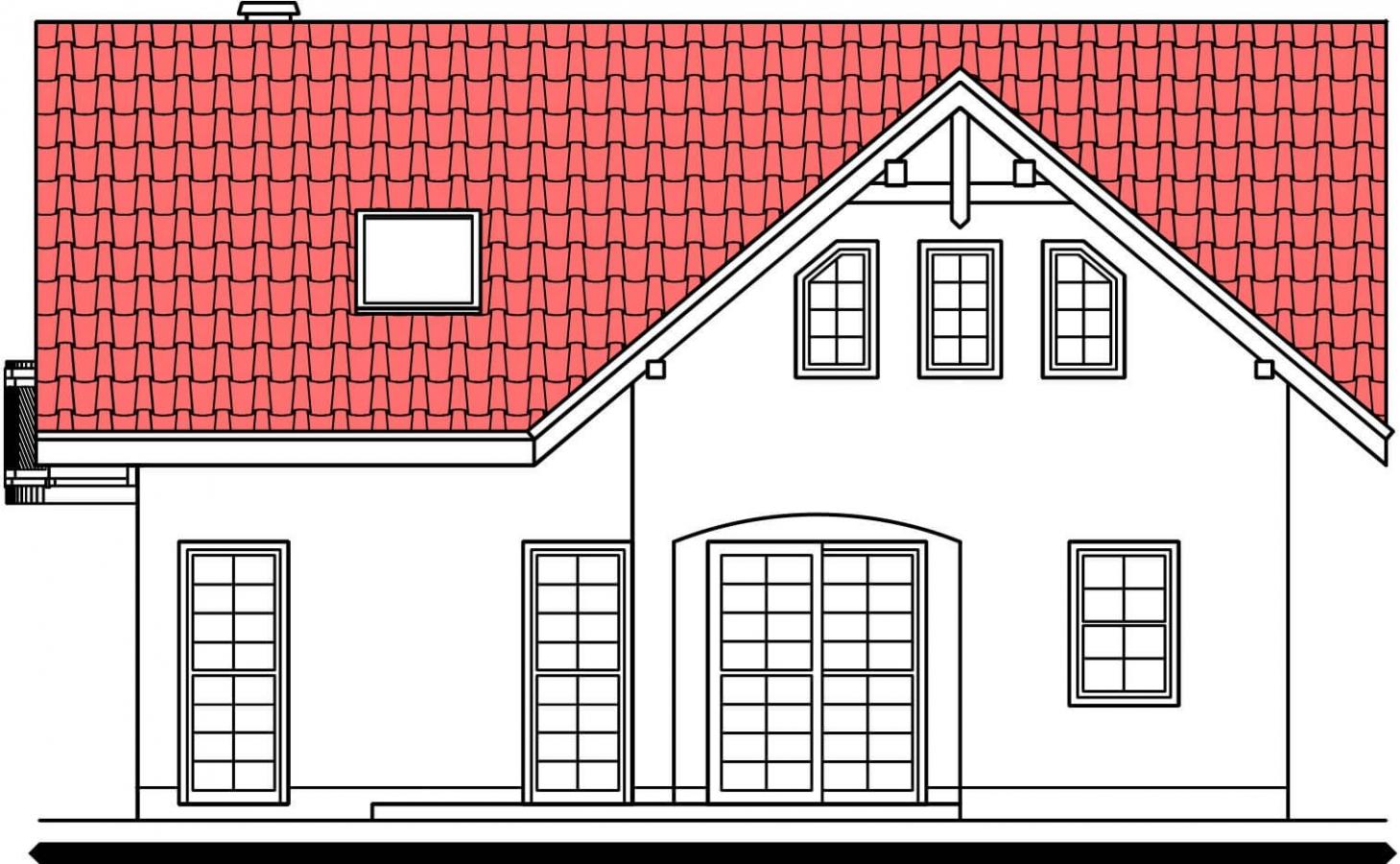 Pohľad 3. - Poschodový 4-izbový dom.
