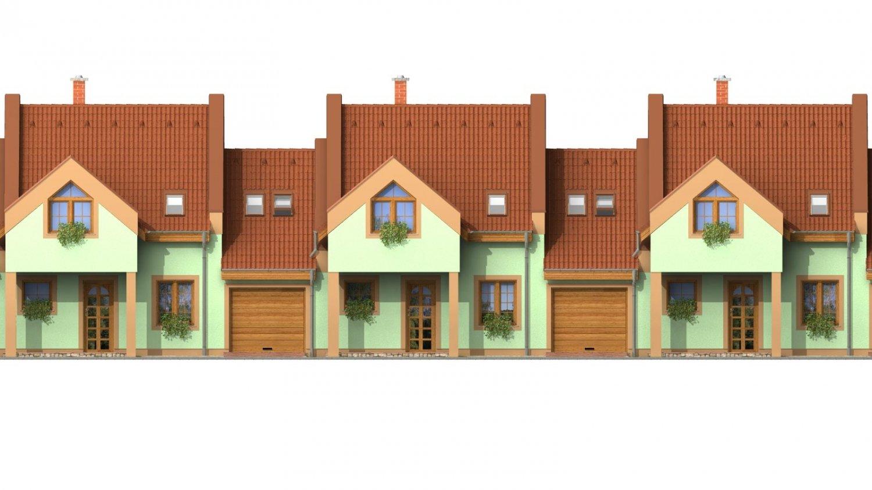 Pohľad 1. - Dom vhodný do radovej výstavby.