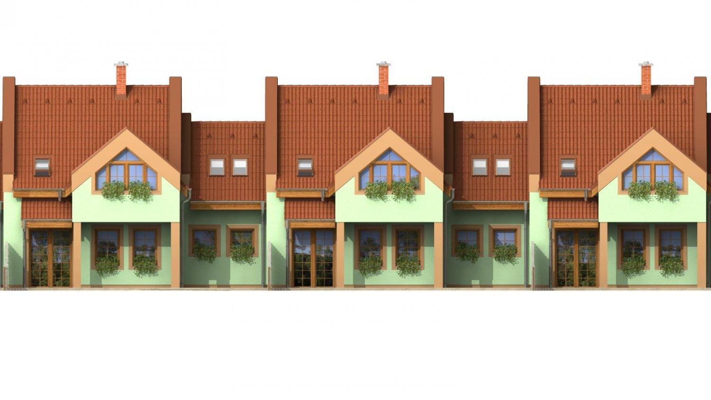 Pohľad 2. - Dom vhodný do radovej výstavby.