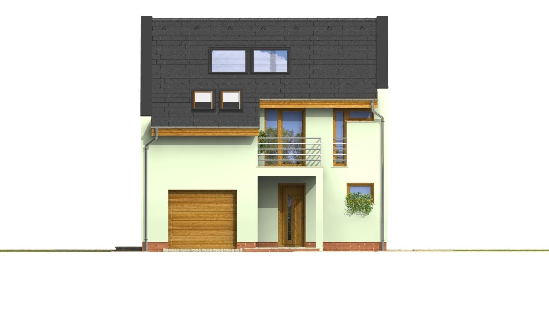 Pohľad 1. - Moderný dom aj do radovej zástavby.