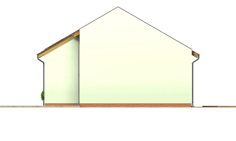 Pohľad 2. - Moderný dom aj do radovej zástavby.