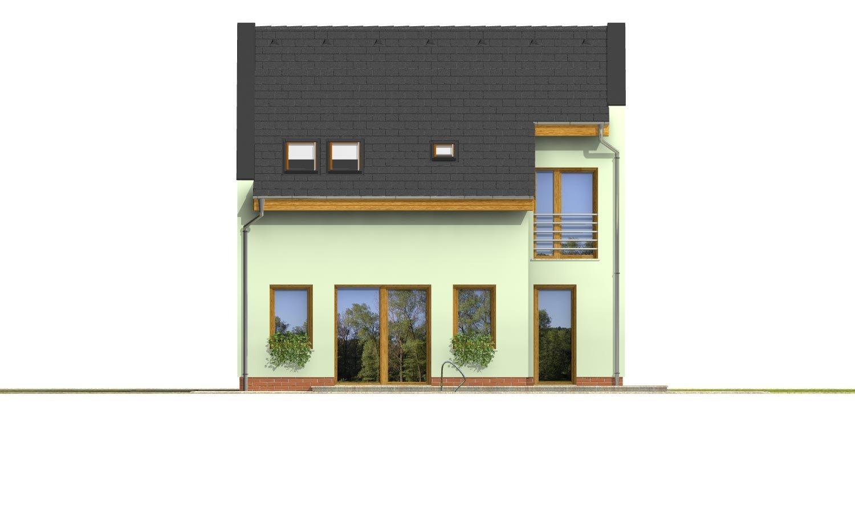 Pohľad 3. - Moderný dom aj do radovej zástavby.