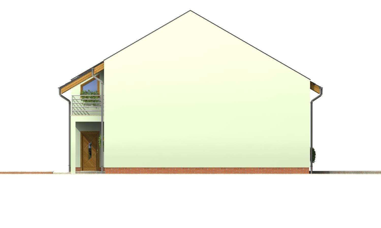 Pohľad 4. - Moderný dom aj do radovej zástavby.