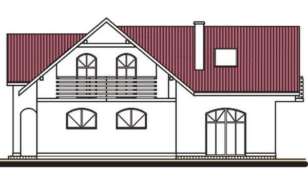 Pohľad 2. - Projekt domu s garážou