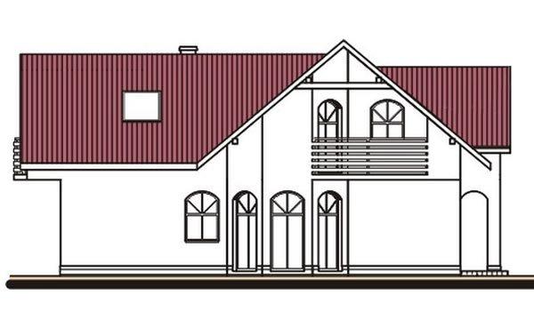 Pohľad 4. - Projekt domu s garážou