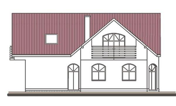 Pohľad 3. - Projekt domu s garážou