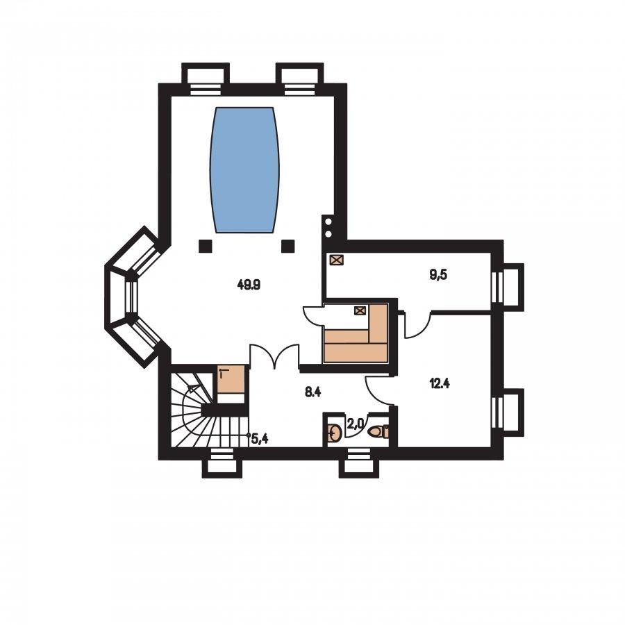 Pôdorys Suterénu - Projekt domu s garážou