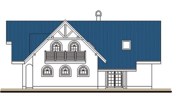 Pohľad 2. - Veľký poschodový dom do tvaru L