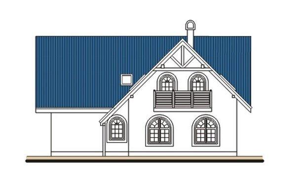 Pohľad 3. - Veľký poschodový dom do tvaru L
