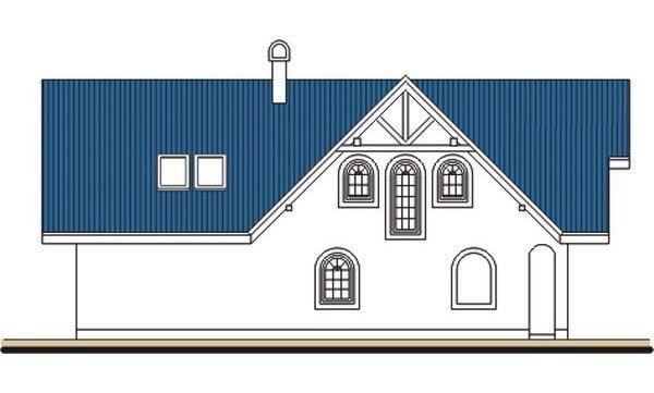 Pohľad 4. - Veľký poschodový dom do tvaru L