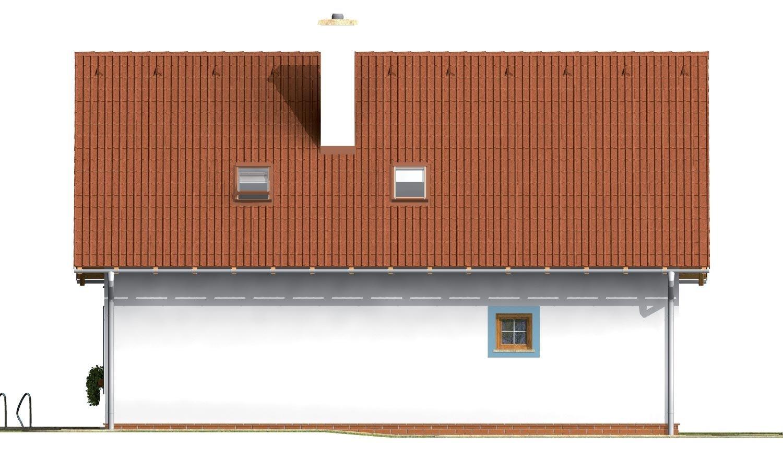 Pohľad 2. - Praktický dom s galériou a izbou na prízemí.