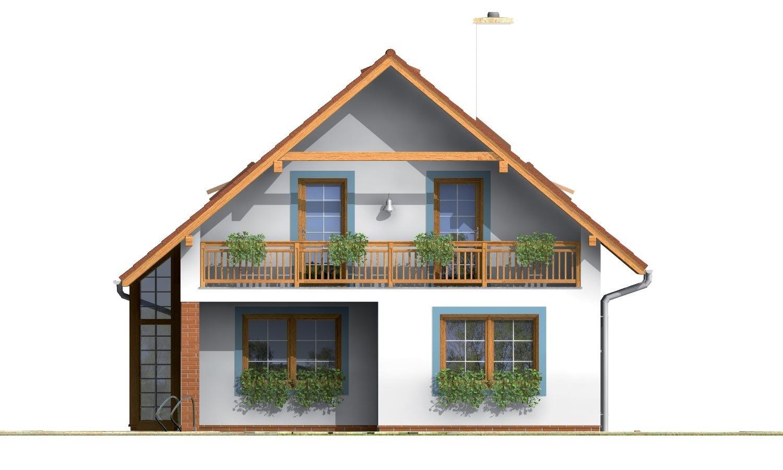 Pohľad 3. - Praktický dom s galériou